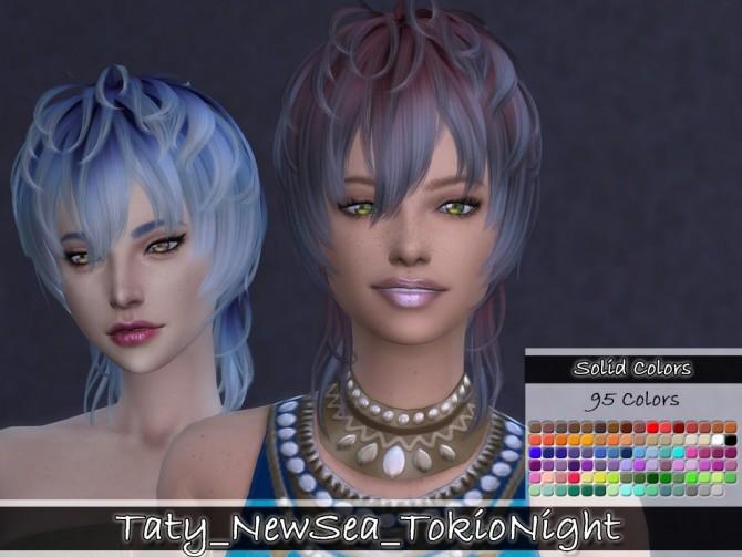 Newsea TokioNights hair retexture at Taty – Eámanë Palantír image 1221 670x503 Sims 4 Updates