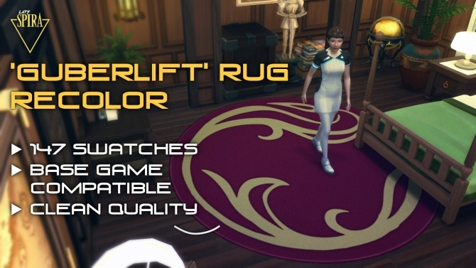 Sims 4 GuberLift Magic Carpet Recolor by LadySpira at Mod The Sims