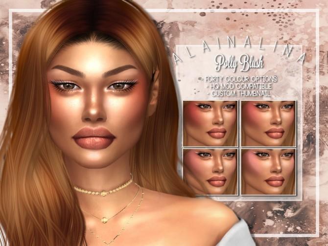 Polly Blush at AlainaLina image 1231 670x503 Sims 4 Updates