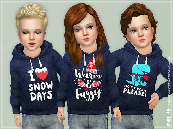 Winter Hoodie for Toddler 02 by lillka at TSR image 12310 Sims 4 Updates