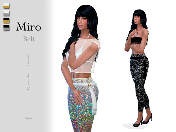 Sims 4 Miro Belt by Suzue at TSR