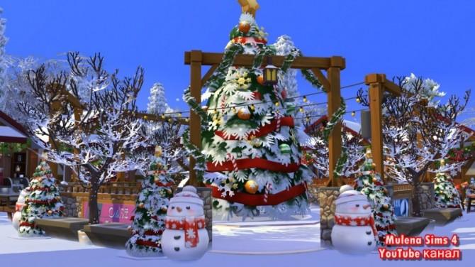 Sims 4 CHRISTMAS MARKET at Sims by Mulena