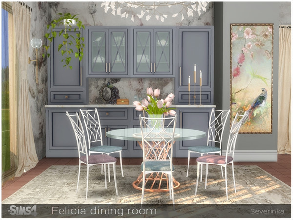 Felicia dining room by Severinka at TSR image 12410 Sims 4 Updates