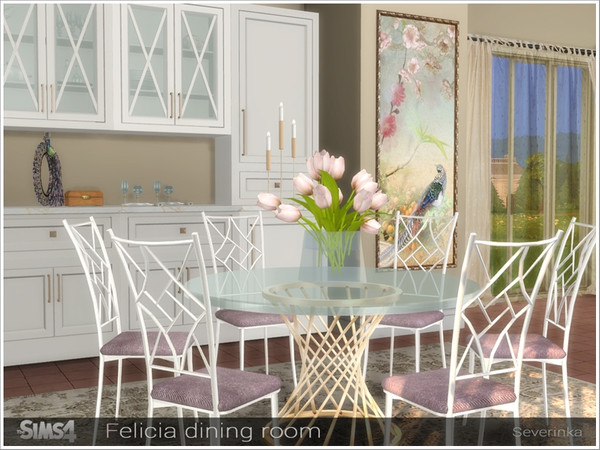 Felicia dining room by Severinka at TSR image 12510 Sims 4 Updates