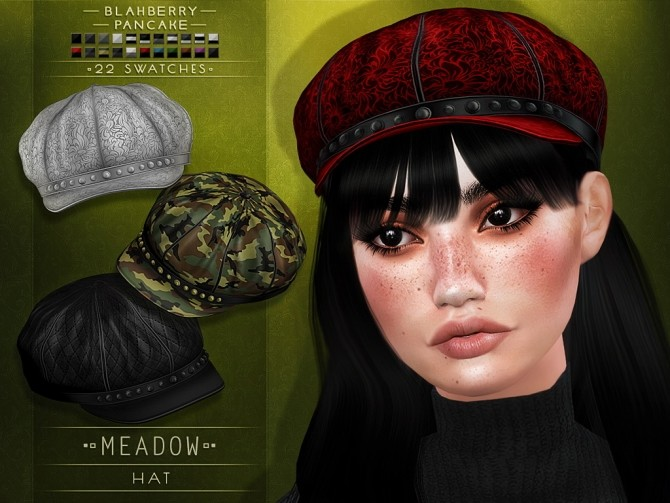 Sims 4 Meadow hat at Blahberry Pancake