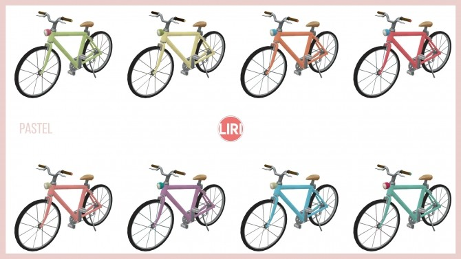 Sims 4 Bicycle Recolours by Lierie at Mod The Sims