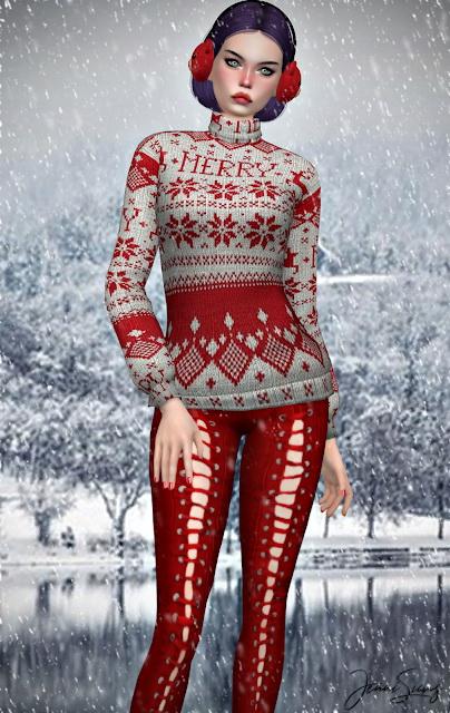Turtleneck sweater BG Compatible at Jenni Sims image 1261 Sims 4 Updates