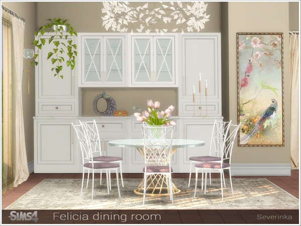 Felicia dining room by Severinka at TSR image 1269 Sims 4 Updates