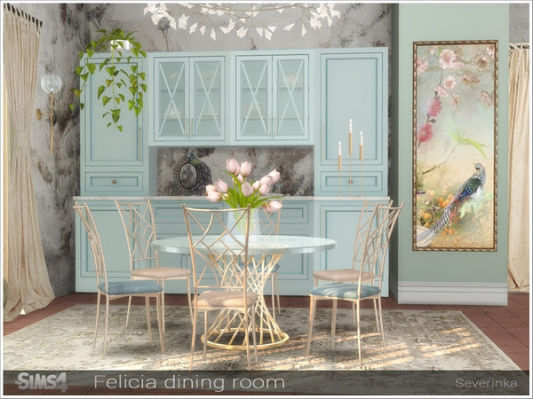 Felicia dining room by Severinka at TSR image 1278 Sims 4 Updates