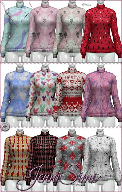 Turtleneck sweater BG Compatible at Jenni Sims image 1281 Sims 4 Updates