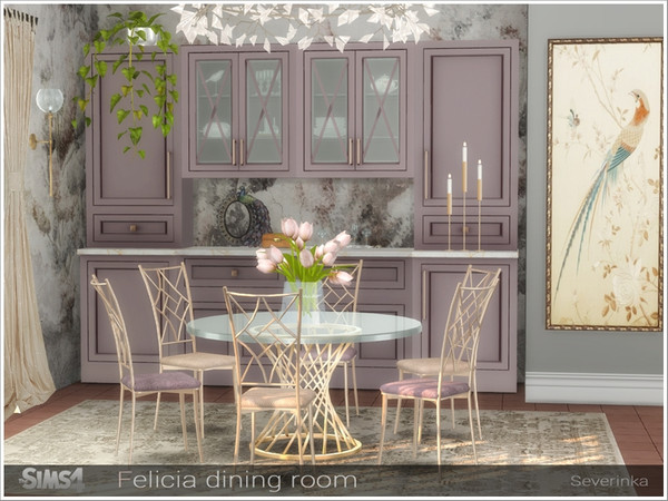 Felicia dining room by Severinka at TSR image 1288 Sims 4 Updates