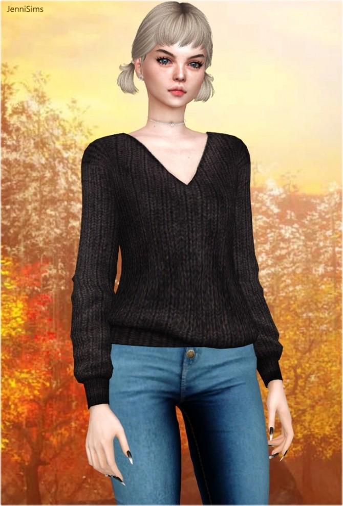 V neck sweaters at Jenni Sims image 1292 670x990 Sims 4 Updates