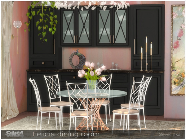Felicia dining room by Severinka at TSR image 1297 Sims 4 Updates