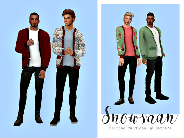 Snowman Knitted cardigan Recolor Darte77 by HazelsCloset at TSR image 1300 Sims 4 Updates