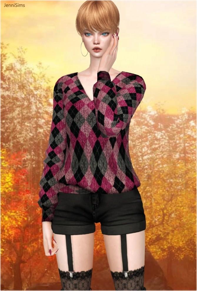 V neck sweaters at Jenni Sims image 1302 670x990 Sims 4 Updates