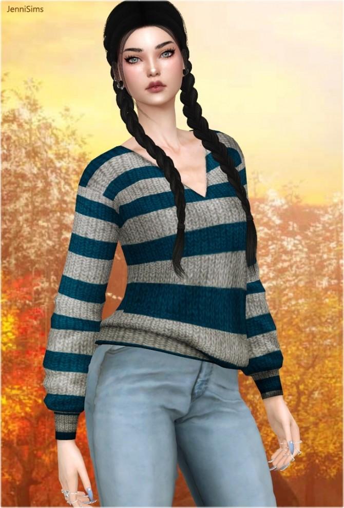 V neck sweaters at Jenni Sims image 1314 670x990 Sims 4 Updates