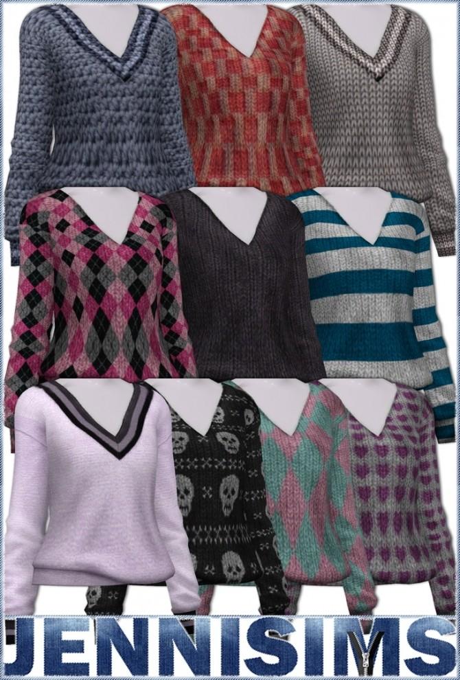 V neck sweaters at Jenni Sims image 1322 670x990 Sims 4 Updates