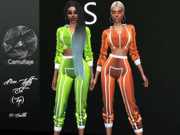 Sims 4 Neon Lights (Top) by Camuflaje at TSR