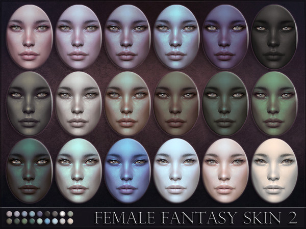 Sims 4 Female Fantasy Skin 2 by RemusSirion at TSR