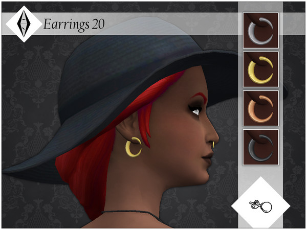Sims 4 Earrings 20 by AleNikSimmer at TSR