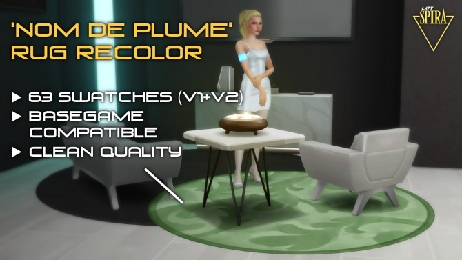Nom de Plume Rug Recolors by LadySpira at Mod The Sims image 137 670x377 Sims 4 Updates