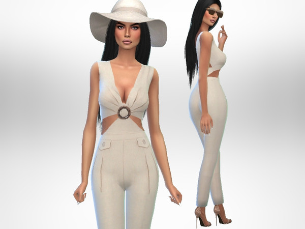 Sims 4 Vacay Jumpsuit by Puresim at TSR