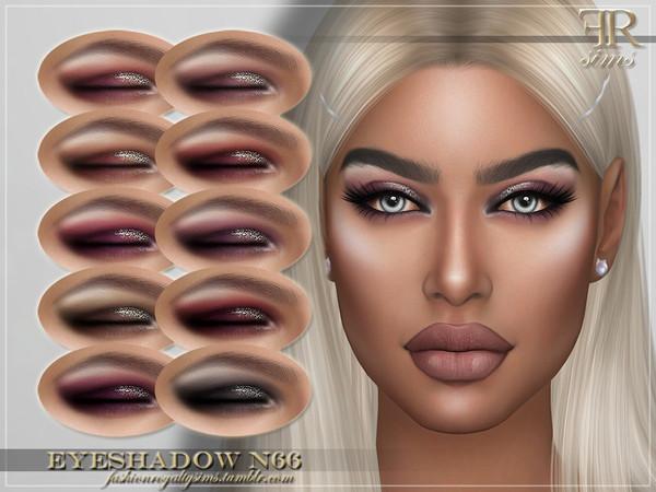 Sims 4 FRS Eyeshadow N66 by FashionRoyaltySims at TSR