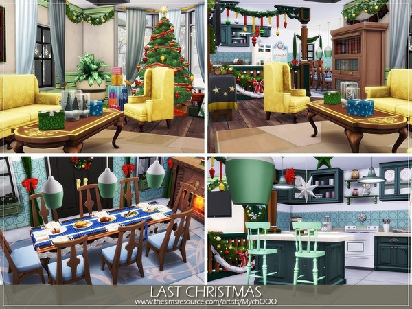 Sims 4 Last Christmas house by MychQQQ at TSR