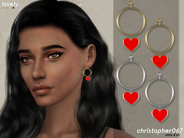 Lovely Earrings by Christopher067 at TSR image 1409 Sims 4 Updates
