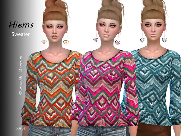 Sims 4 Hiems Sweater by Suzue at TSR