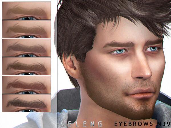 Sims 4 Eyebrows N39 by Seleng at TSR