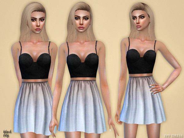 Sims 4 Ivy Dress by Black Lily at TSR