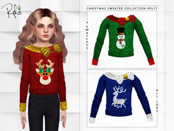 Sims 4 Christmas Sweater Collection RPL17 by RobertaPLobo at TSR