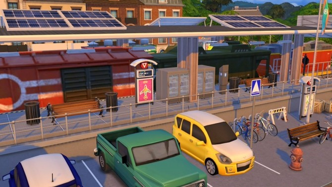 Sims 4 Train station at Fab Flubs