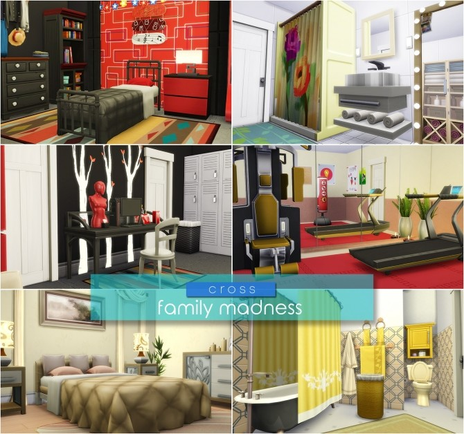 Sims 4 Family Madness house by Praline at Cross Design