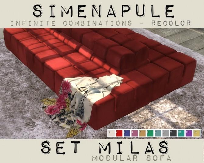 Sims 4 Modular Sofa Velvet RECOLOR at Simenapule