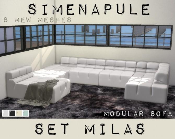 Sims 4 Set Milas Modular Sofa MESH at Simenapule