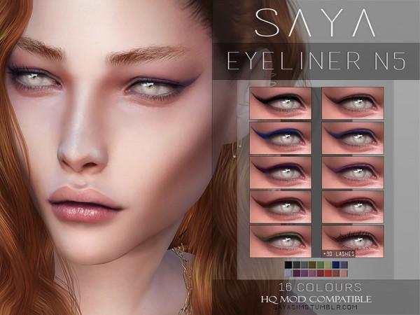 Sims 4 Eyeliner N5 by SayaSims at TSR
