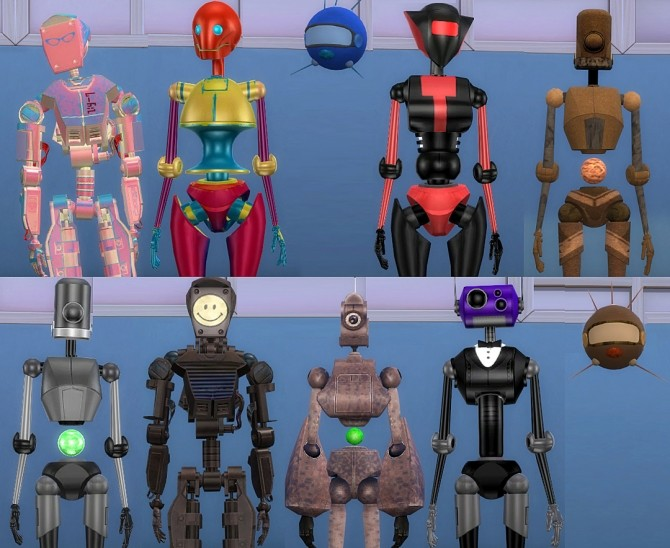 Sims 4 Lots of Bots   21 Colourful Servo Overrides by Esmeralda at Mod The Sims