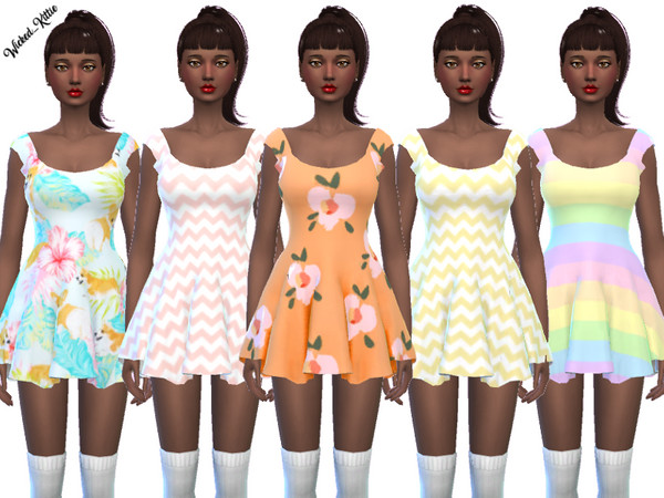 Fun Mini Dresses by Wicked Kittie at TSR image 155 Sims 4 Updates