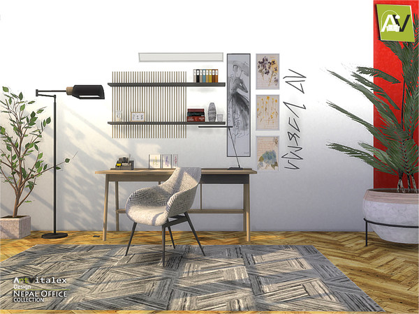 Nepal Office by ArtVitalex at TSR image 1553 Sims 4 Updates