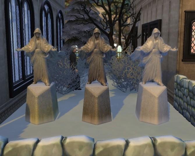 Sims 4 Skyrim Mage statue at Mara45123