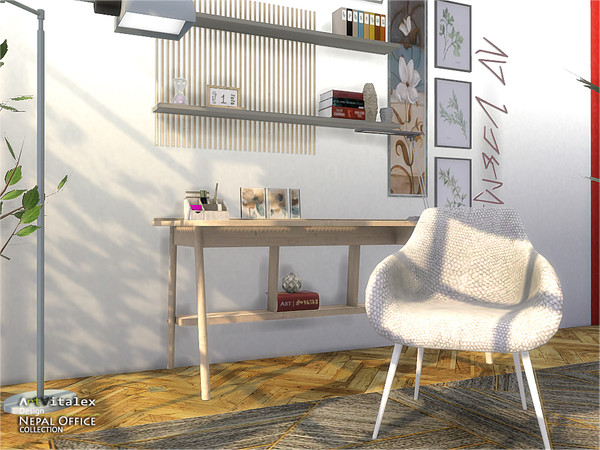 Nepal Office by ArtVitalex at TSR image 1573 Sims 4 Updates