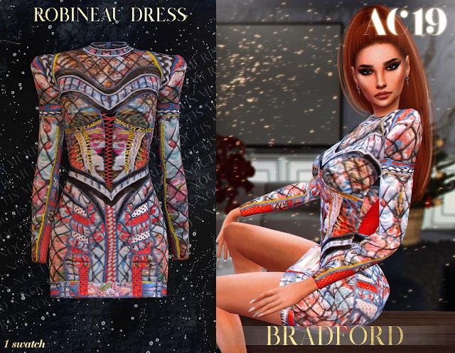 Sims 4 Robineau Dress AC 2019 Day 7 by Silence Bradford at MURPHY