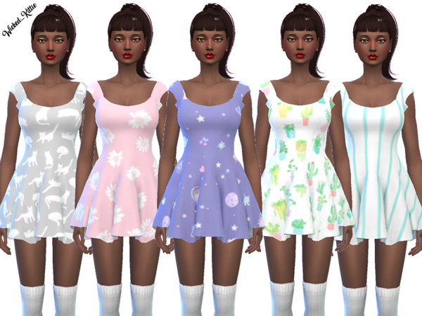 Fun Mini Dresses by Wicked Kittie at TSR image 1612 Sims 4 Updates