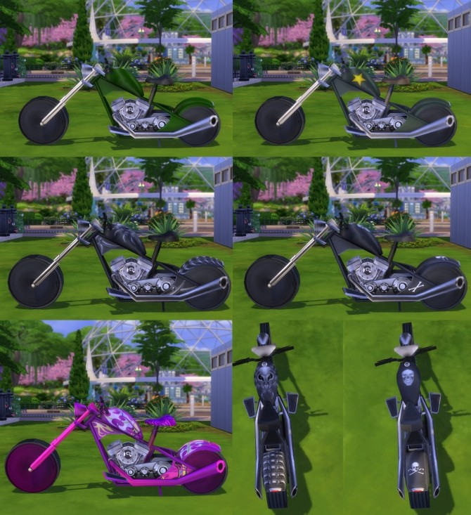 Sims 4 Rideable Motorcycle The Beast modification by Esmeralda at Mod The Sims