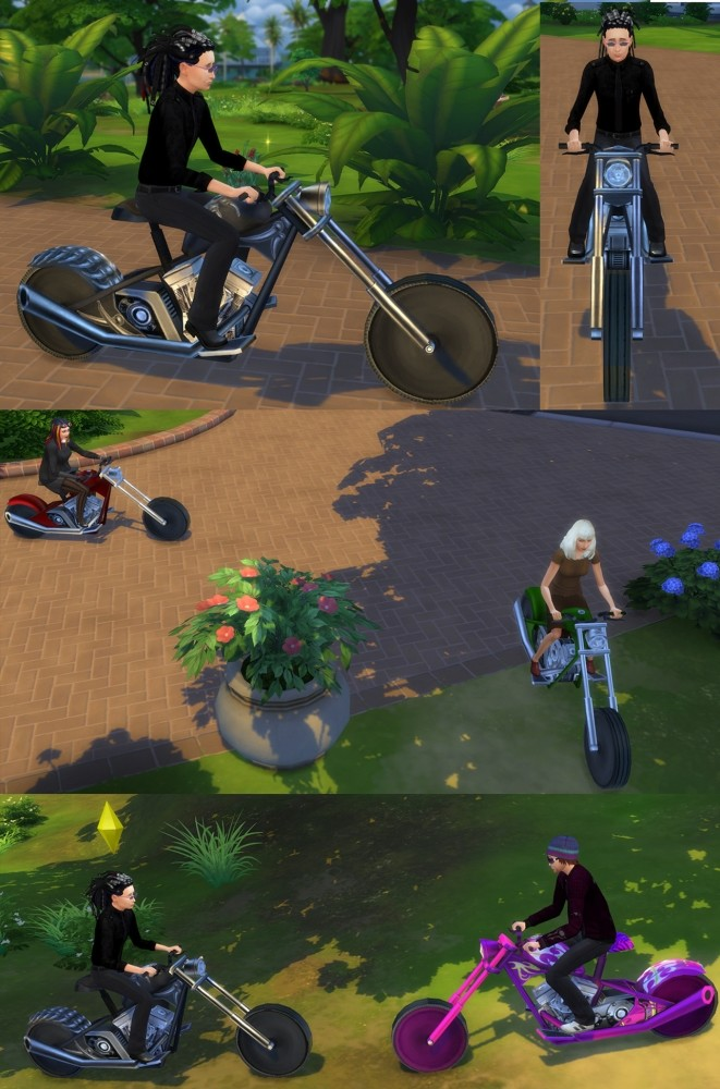 Rideable Motorcycle The Beast modification by Esmeralda at Mod The Sims image 1622 661x1000 Sims 4 Updates