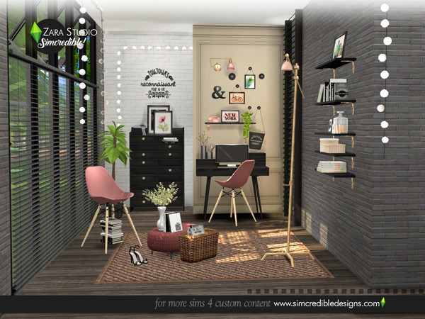 Zara Study set by SIMcredible at TSR image 1637 Sims 4 Updates