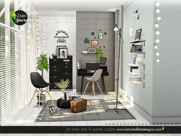 Sims 4 Zara Study set by SIMcredible at TSR