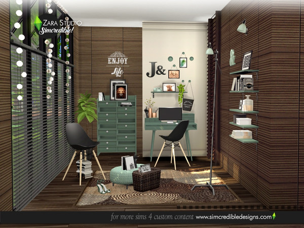 Zara Study set by SIMcredible at TSR image 1666 Sims 4 Updates